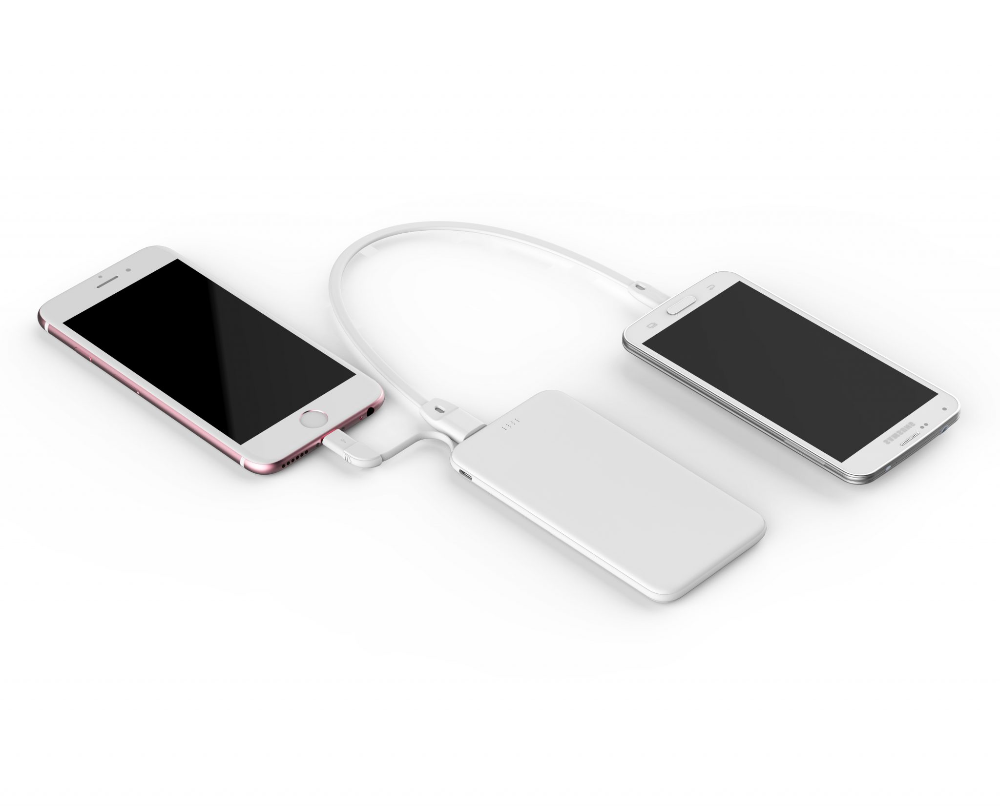 usb power bank for iphone with in-built cable